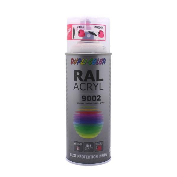 DUPLI-COLOR RAL-Acryl RAL 9002 Grauweiß Glänzend 400 ml Spraydose